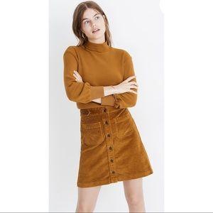 MADEWELL | Corduroy Yellow A Line Mini Skirt